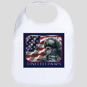 Poodle United Paws Flag Bib