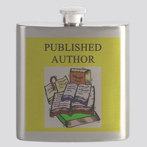 geek published author gifts t-shirts Flask