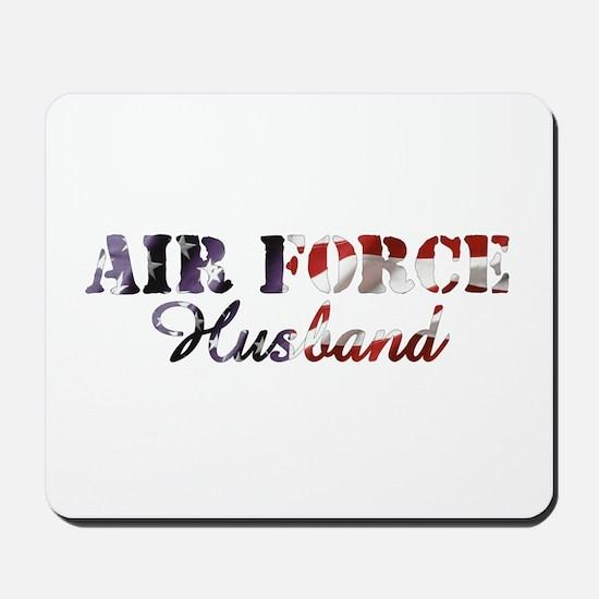 Air Force Husband American Flag Mousepad
