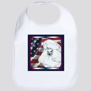 Poodle USA Flag Bib