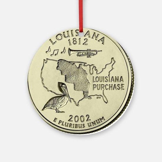Louisiana Quarter 2002 Basic Round Ornament