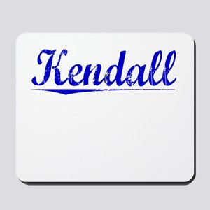 Kendall, Blue, Aged Mousepad