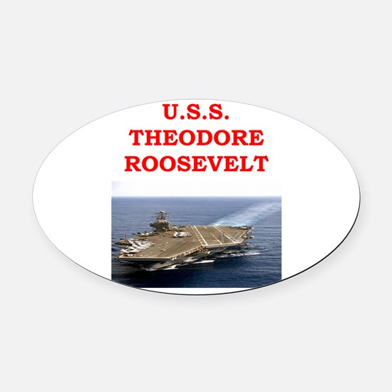 theodore roosevelt Oval Car Magnet