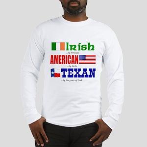 T-Shirt - Irish-American-Texan Long Sleeve T-S