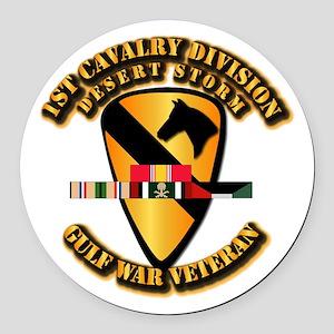 Army - DS - 1st Cav Div Round Car Magnet