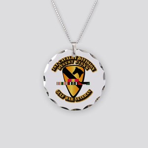 Army - DS - 1st Cav Div Necklace Circle Charm