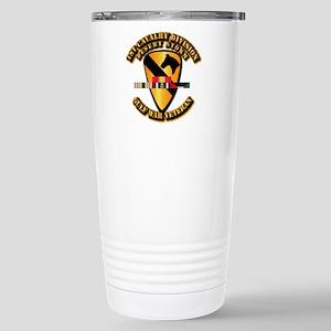 Army - DS - 1st Cav Div Stainless Steel Travel Mug