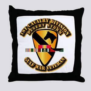 Army - DS - 1st Cav Div Throw Pillow