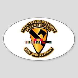 Army - DS - 1st Cav Div Sticker (Oval)