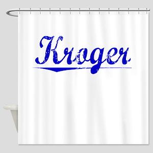 Kroger, Blue, Aged Shower Curtain