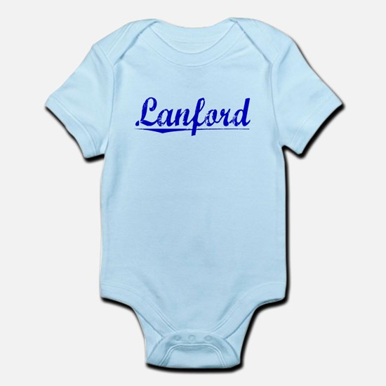 Lanford, Blue, Aged Infant Bodysuit