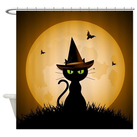 Spooky Halloween Shower Curtain