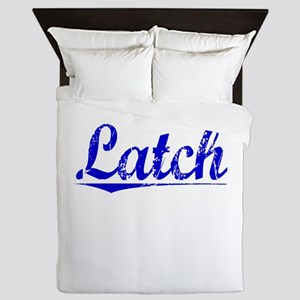 Latch, Blue, Aged Queen Duvet