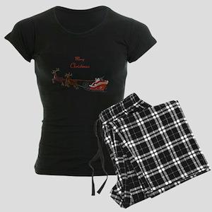 Santa Claus Women's Dark Pajamas