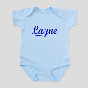 Layne, Blue, Aged Infant Bodysuit