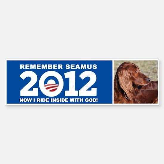 Seamus Inside with God! Sticker (Bumper)