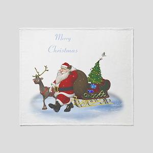 Santa is coming Throw Blanket