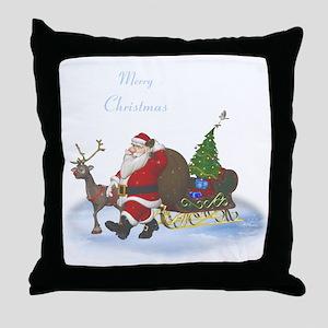 Santa is coming Throw Pillow