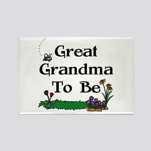 Great Grandma To Be Gardener Rectangle Magnet