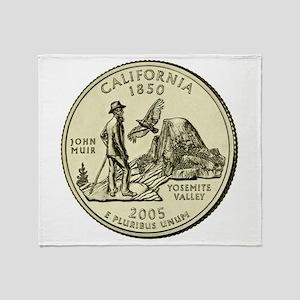 California Quarter 2005 Basic Throw Blanket