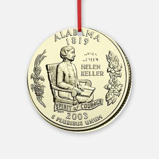 Alabama Quarter 2003 Basic Round Ornament