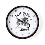 Just Gotta Scoot Xciting Wall Clock