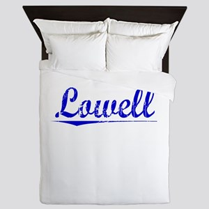 Lowell, Blue, Aged Queen Duvet