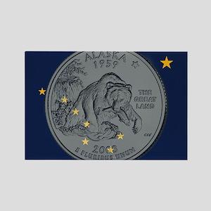 Alaska Quarter 2008 Magnets