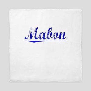 Mabon, Blue, Aged Queen Duvet
