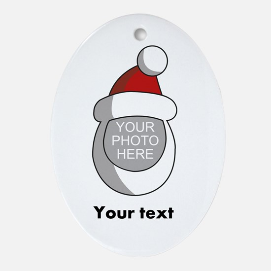 Personalized Santa Christmas Ornament (Oval)