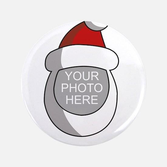 "Personalized Santa Christmas 3.5"" Button"