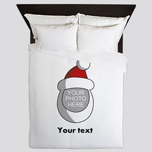 Personalized Santa Christmas Queen Duvet