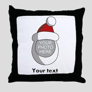 Personalized Santa Christmas Throw Pillow