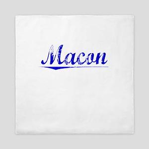 Macon, Blue, Aged Queen Duvet