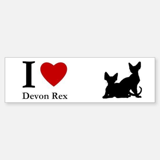 I love Devon Rex Bumper Bumper Bumper Sticker