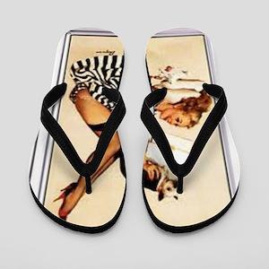 The PinUp Girl. Flip Flops