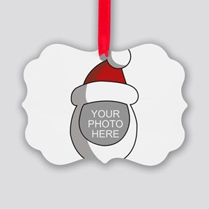 Personalized Santa Christmas Picture Ornament