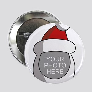 "Personalized Santa Christmas 2.25"" Button"