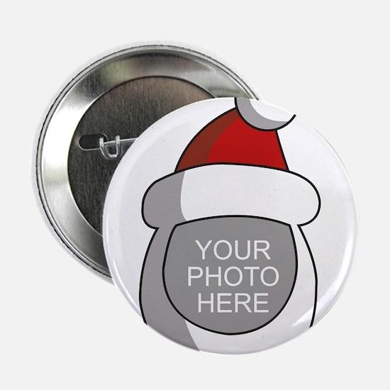 "Personalized Santa Christmas 2.25"" Button"