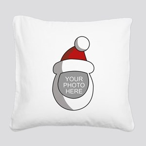 Personalized Santa Christmas Square Canvas Pillow