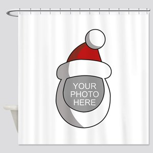 Personalized Santa Christmas Shower Curtain