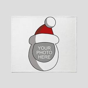 Personalized Santa Christmas Throw Blanket