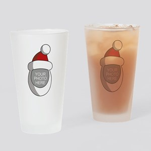 Personalized Santa Christmas Drinking Glass