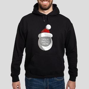 Personalized Santa Christmas Hoodie (dark)