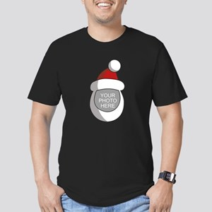 Personalized Santa Christmas Men's Fitted T-Shirt