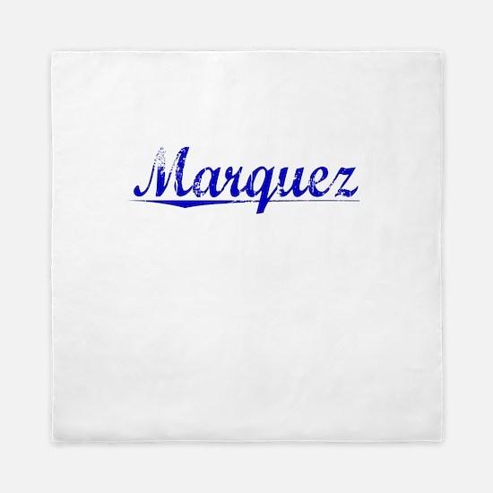 Marquez, Blue, Aged Queen Duvet