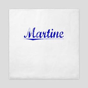 Martine, Blue, Aged Queen Duvet