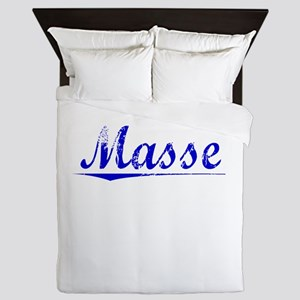 Masse, Blue, Aged Queen Duvet
