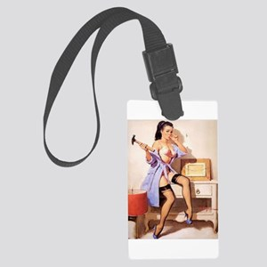 The Pin Up Girl. Large Luggage Tag
