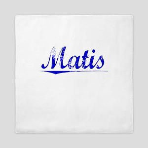 Matis, Blue, Aged Queen Duvet